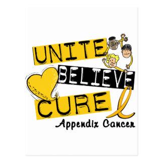 UNITE BELIEVE CURE Appendix Cancer Postcard