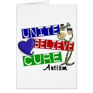 UNITE BELIEVE CURE Autism Greeting Card