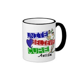 UNITE BELIEVE CURE Autism Coffee Mug