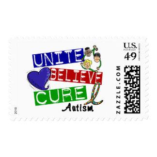 UNITE BELIEVE CURE Autism Postage