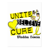 UNITE BELIEVE CURE Bladder Cancer Postcard