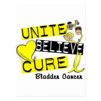 UNITE BELIEVE CURE Bladder Cancer Postcard