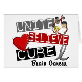 UNITE BELIEVE CURE Brain Cancer Card