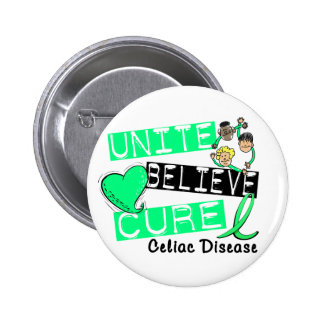 UNITE BELIEVE CURE Celiac Disease Pin
