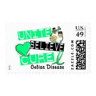 UNITE BELIEVE CURE Celiac Disease Stamp