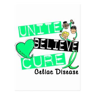 UNITE BELIEVE CURE Celiac Disease Postcard