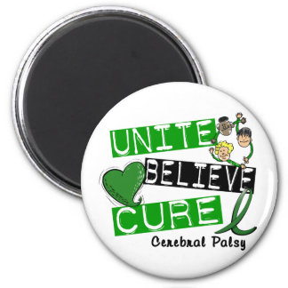 UNITE BELIEVE CURE Cerebral Palsy 2 Inch Round Magnet