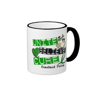UNITE BELIEVE CURE Cerebral Palsy Ringer Coffee Mug