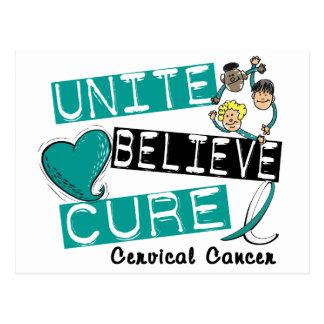 UNITE BELIEVE CURE Cervical Cancer Postcard