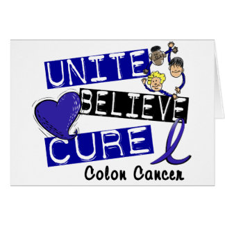 UNITE BELIEVE CURE Colon Cancer Card