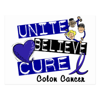 UNITE BELIEVE CURE Colon Cancer Postcards