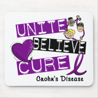 UNITE BELIEVE CURE Crohn's Disease Mouse Pad