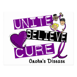 UNITE BELIEVE CURE Crohn's Disease Postcard