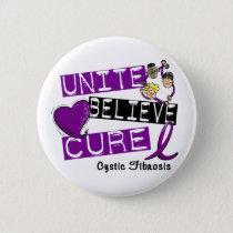 UNITE BELIEVE CURE Cystic Fibrosis Pinback Button