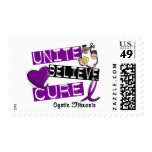 UNITE BELIEVE CURE Cystic Fibrosis Postage Stamp