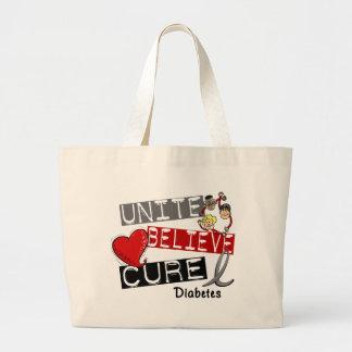 UNITE BELIEVE CURE Diabetes Tote Bags