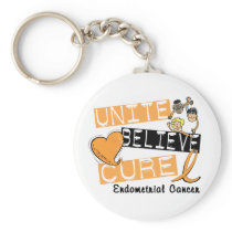 UNITE BELIEVE CURE Endometrial Cancer Keychain