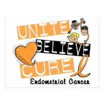 UNITE BELIEVE CURE Endometrial Cancer Postcard