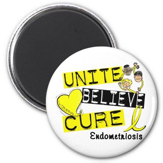 UNITE BELIEVE CURE Endometriosis 2 Inch Round Magnet