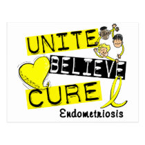 UNITE BELIEVE CURE Endometriosis Postcard