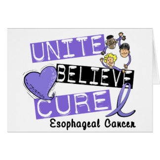 UNITE BELIEVE CURE Esophageal Cancer Greeting Card