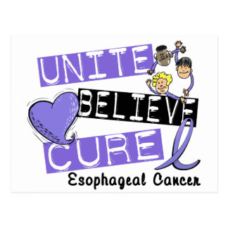 UNITE BELIEVE CURE Esophageal Cancer Postcard