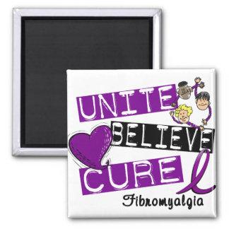 UNITE BELIEVE CURE Fibromyalgia Magnet