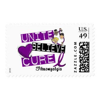 UNITE BELIEVE CURE Fibromyalgia Postage