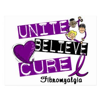 UNITE BELIEVE CURE Fibromyalgia Postcard