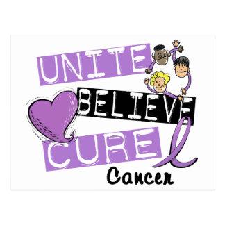 UNITE BELIEVE CURE General Cancer Postcard
