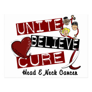 UNITE BELIEVE CURE Head and Neck Cancer Postcard