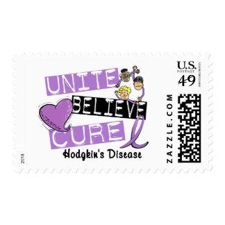 UNITE BELIEVE CURE Hodgkins Disease Postage Stamp