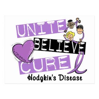 UNITE BELIEVE CURE Hodgkins Disease Postcard