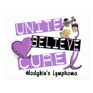 UNITE BELIEVE CURE Hodgkins Lymphoma Postcard