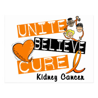 UNITE BELIEVE CURE Kidney Cancer Postcard