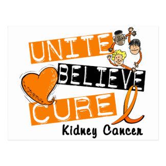 UNITE BELIEVE CURE Kidney Cancer Postcard