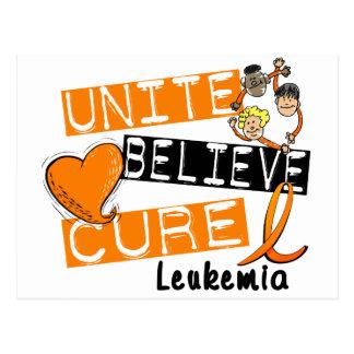 UNITE BELIEVE CURE Leukemia Postcard