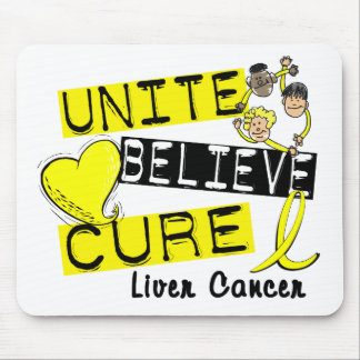 UNITE BELIEVE CURE Liver Cancer (Yellow) Mouse Mat
