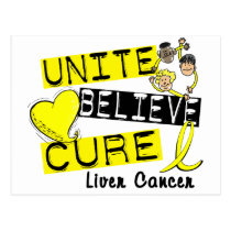 UNITE BELIEVE CURE Liver Cancer (Yellow) Postcard