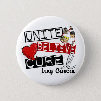 UNITE BELIEVE CURE Lung Cancer Button