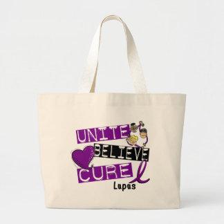 UNITE BELIEVE CURE Lupus Large Tote Bag