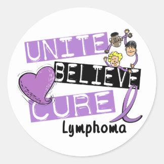 UNITE BELIEVE CURE Lymphoma Classic Round Sticker