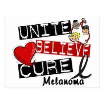 UNITE BELIEVE CURE Melanoma Postcard