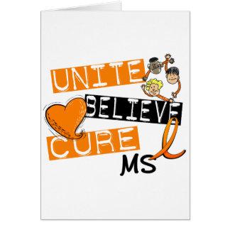 UNITE BELIEVE CURE MS CARD