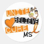 UNITE BELIEVE CURE MS CLASSIC ROUND STICKER
