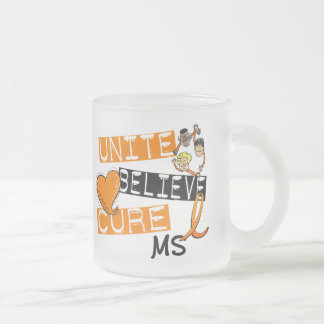 UNITE BELIEVE CURE MS FROSTED GLASS COFFEE MUG