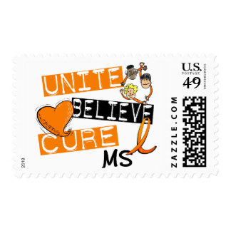 UNITE BELIEVE CURE MS POSTAGE STAMPS