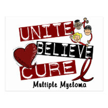 UNITE BELIEVE CURE Multiple Myeloma Postcard