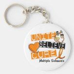 UNITE BELIEVE CURE Multiple Sclerosis Keychain