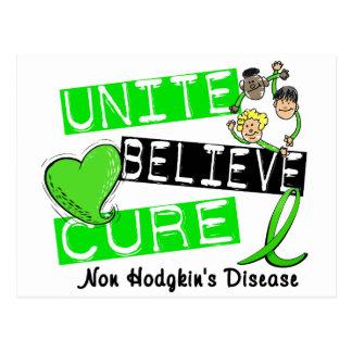 UNITE BELIEVE CURE Non-Hodgkin's Disease Postcard